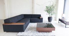 コーナーローソファBRICK                                                                                                                                                                                 もっと見る Outdoor Sectional Sofa, Interior Design, Sofa Bed Design, Furniture, Sofa, Metal Sofa, Interior, Home Decor, Room