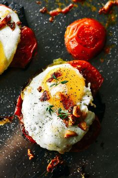 Beautiful egg toast with gorgeous roasted tomatoes and pan roasted portobello mushrooms. Topped off with GARLIC CRISPIES!!, fresh thyme, sea salt, and fresh cracked pepper. A quick, easy, whole30, and paleo breakfast! whole30 breakfast. easy whole30 breakfast ideas. whole30 meal plan. Easy whole30 dinner recipes. Easy whole30 dinner recipes. Whole30 recipes. Whole30 lunch. Whole30 meal planning. Whole30 meal prep. Healthy paleo meals. Healthy Whole30 recipes. Easy Whole30 recipes. Easy…