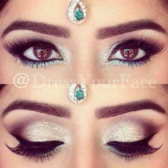 Bridal eye make up