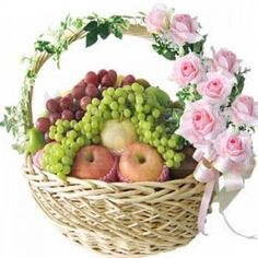There is no special occasion to let someone know how much you care for her, how much you adore her. There is no special reason needed to gift this magnificent fruit basket to your beloved person. #MayaFlowers #FlowersDeliveryIndia #CityFlowers