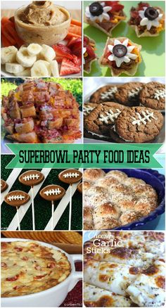 Superbowl party food ideas, but not making anything in the shape of a football...