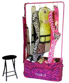 Dance Bag With Garment Rack Entrancing How To Make Your Own Rolling Dance Bag With Garment Rack  Pinterest