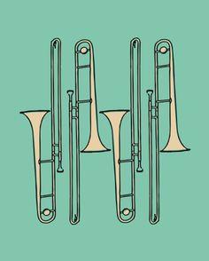 Trombones via Etsy