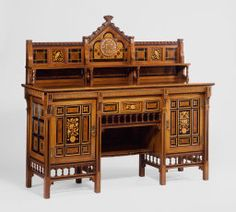 [Now on view in Gallery 231] Designed by Bruce James Talbert. Made by Gillow & Co. Drawing-Room Cabinet, 1871/72. Gift of the Antiquarian Society through Mrs. Edgar J. Uihlein Fund.