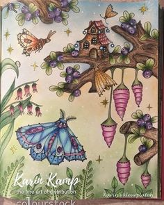 "205 Likes, 13 Comments - Karin Kamp (@karinskleurplaten) on Instagram: ""#carovnelahodnosti #magicaldelights #klaramarkova #derwent #derwentprocolour #procolour #coloring…"""