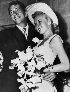 Dean and Jeanne Martin on there wedding day