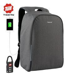 "47.00$  Watch here - http://aliax3.shopchina.info/go.php?t=32800701138 - ""2017 Summer Tigernu Anti-theft USB Charging 14""""- 15.6"""" Laptop Backpack Men school bag Women Backpack Laptop bag Backpack "" 47.00$ #aliexpresschina"