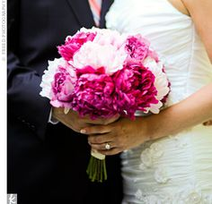 This is the bouquet I really want...just not sure if I can get peonies in Oct