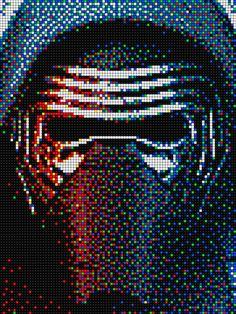 Kylo Ren - Star Wars with Pixel Art Quercetti