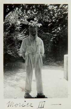 """[BRANCUSI Constantin] MORICE III. PORTRAIT OF BRANCUSI. ORIGINAL PHOTOGRAPHY. Paris, circa 1946. 9.5 x 7.5 cm, under frame. Vintage silver print signed on the front by Brancusi """"Morice III"""". This is actually Brancusi's signature, some of his letters to Florence Meyer were signed by him Morice III. Morice was the code name used by his friends when they wanted to visit his studio. Florence Meyer nicknamed her two sons Vincent and Larry, Morice I and Morice II. Constantin Brancusi, Mark Rothko, Film Quotes, Happenings, Portrait, Vintage Silver, Romania, Studios, Sculptures"""