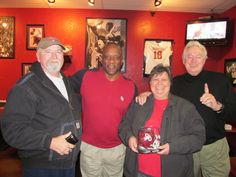 Us with Billy Sims and Steve Owens, OU Heisman Trophy winners!