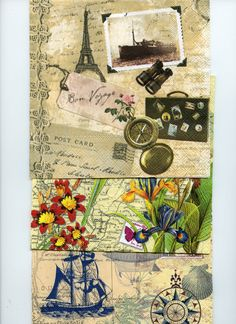 DECOUPAGE NAPKINS PACK  Collection:  Travel by OneDayLongAgo