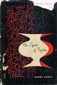 An Alvin Lustig dust jacket design.  The Spoils of Poynton by Henry James. New Directions, 1943. First Edition.