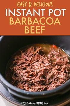 Smoky fragrant Instant Pot Barbacoa Beef will easily become your new favorite go-to weeknight meal. This shredded beef is Perfect for Taco Tuesdays, bowls, nachos, salad and Mexican flavors. This tender beef comes together so easily cooks in your Instant Pot in under an hour! Instant Pot Barbacoa is a versatile dish that's a great meal prep solution too. Click through to get this Instant Pot Beef Barbacoa recipe! #instantpot #instantpotrecipes #barbacoa #instantpotbarbacoa #beefbarbacoa… Best Instant Pot Recipe, Instant Pot Dinner Recipes, Supper Recipes, Entree Recipes, Lunch Recipes, Easy Dinner Recipes, Beef Recipes, Appetizer Recipes, Soup Recipes