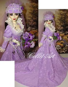 """https://flic.kr/p/bFd2Q4   2012 TONNER EVANGELINE GHASTLY OOAK GOWN OUTFIT """"MORTUARY PRINCESS"""" BY COLLET-ART"""