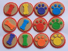 Dog Paws and Bones Fondant Cupcake Toppers. $18.95, via Etsy.