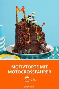 Motivtorte mit Motocrossfahrer