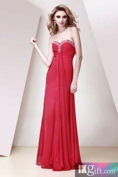 7f2caf56cb1a Elegant A-line Sweetheart Floor-length Chiffon Beading Evening Dress