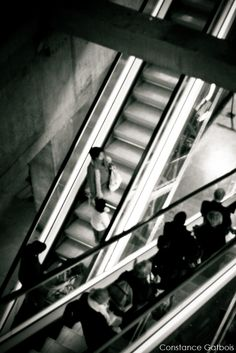 black and white #stairs station paris