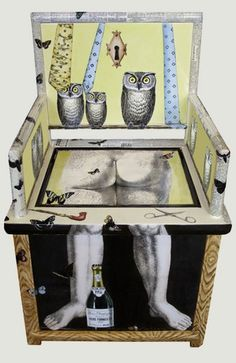 Piero Fornasetti. Chair with legs.