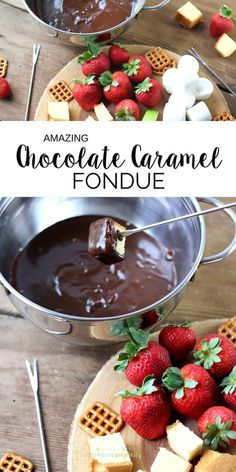 Chocolate Caramel Fondue This Chocolate Caramel Fondue Recipe is a decadent dessert the whole family will enjoy! It's easy to make anytime!This Chocolate Caramel Fondue Recipe is a decadent dessert the whole family will enjoy! It's easy to make anytime! Chocolate Caramel Fondue Recipe, Easy Chocolate Desserts, Köstliche Desserts, Decadent Chocolate, Chocolate Recipes, Chocolate Chocolate, Health Desserts, Dinner Party Desserts, Dessert Party
