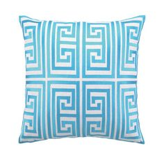 Trina Turk Greek Key Pillow in   Turquoise