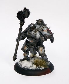 Khador Man-O-War model, 1st Warmachine model - with instructions