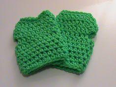 Green Crochet Fingerless Gloves - Ready to Ship (#110) by NoreensCrochetShop on Etsy