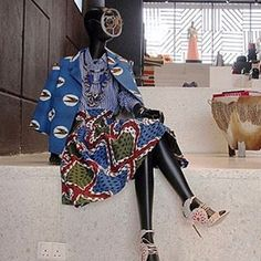 A  mannequin is displayed in Alara, a new retail concept store, on May 19, 2015 on Victoria Island, Lagos. Founded by Reni Folawiyo, the store offers customers the best in fashion and interior design from all over Africa and the world. AFP PHOTO / EMMANUEL AREWA