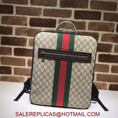 de211d1e4ab3 Gucci Beige GG Supreme Mens backpack 478324 Replica Handbags, Men's  Backpack, Supreme, Black