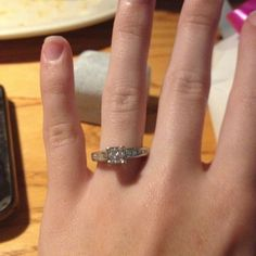 Look what my baby got me!!! This is the most BEAUTIFUL promise ring in the world!!! :D <3333