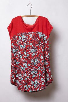Pattern Drop Tee #anthropologie, seems like something easy to sew