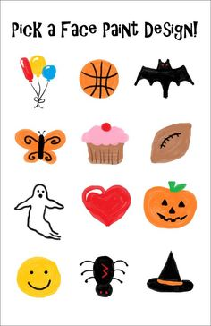 Simple Face Painting Patterns for kids, I used this exact sheet to . Simple Face Painting Patterns for kids, I used this exact sheet to . Easy Halloween Face Painting, Easy Face Painting Designs, Face Painting Stencils, Painting Templates, Painting Patterns, Body Painting, Simple Face Painting, Halloween Face Paint Designs, Pumpkin Face Paint