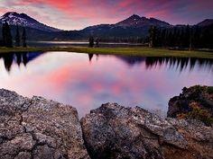 lake, Stones, Mountains