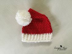 8ed8e0623c9 Santa Hat - Crochet Red and White Santa Claus Hat - Newborn Baby Infant  Toddler Child Teen Adult - Christmas Santa Hat - Girl Boy Women Men