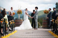 What a gorgeous back-droop for a perfect wedding in Breckenridge, CO http://www.breckenridgerentalplaces.com/