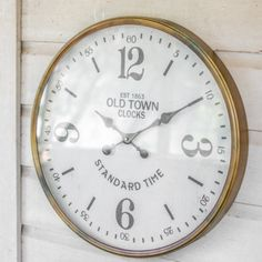 Old Town Station Metal Wall Clock