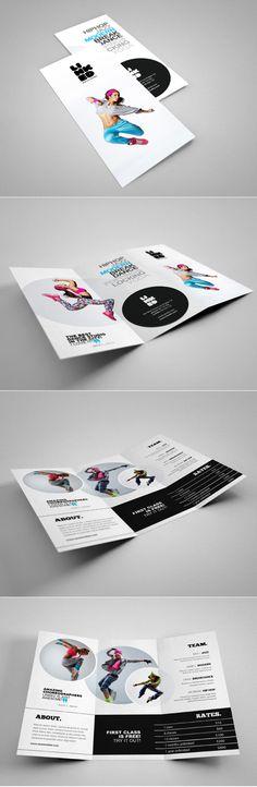 Professional Tri-Fold Brochure perfect for dance studio.