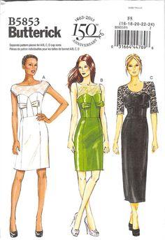 BUTTERICK 5853 - UNCUT - MISSES DRESS