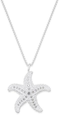 6be9bb13633e Thomas Sabo Crystal Starfish Pendant Necklace in Sterling Silver   Reviews  - Fashion Jewelry - Jewelry   Watches - Macy s