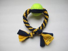 Dog Toy Super Strong Tug with Upcycled Tennis by HappyValleyDog, $8.00