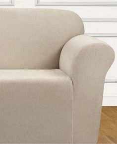 Sure Fit Ultimate Stretch Chenille One-Piece Loveseat Slipcover Bedding