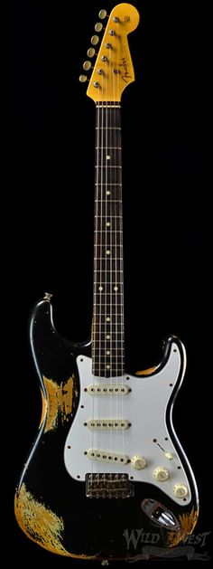 Fender 1960 Stratocaster Heavy Relic SSS Faded Black - Wild West Guitars