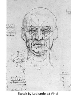 Leonardo da Vinci uses SIGHT LINES to find - Face Proportions - drawing study Life Drawing, Figure Drawing, Drawing Sketches, Painting & Drawing, Art Drawings, Drawing Faces, Drawing Tips, Face Proportions, Michelangelo