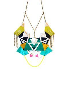 Triangle Motiff Statement Necklace