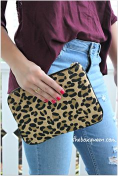 Love this leopard clutch- Stitch Fix Review December 2015