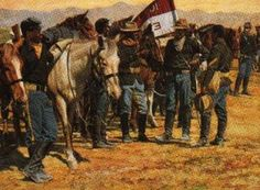 buffalo soldiers paintings illustrations | BUFFALO SOLDIERS & INDIAN WARS…