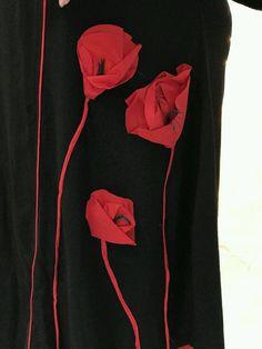 Купить Пдатье с маками - платье, платье на каждый день, вискоза, стрейч