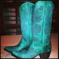 Lane Boots California All the Way Turquoise at RiverTrail in North Carolina.