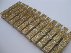 Gold Glitter Clothespins  Place Card Holders  by TheGlitterShoppe, $6.99
